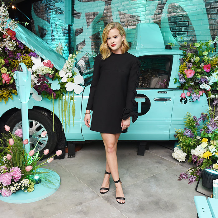 <p>Ava Phillippe is looking more and more like mom Reese Witherspoon every day! She was beautiful in black – and a bright red lip! – while attending the Tiffany event.</p>