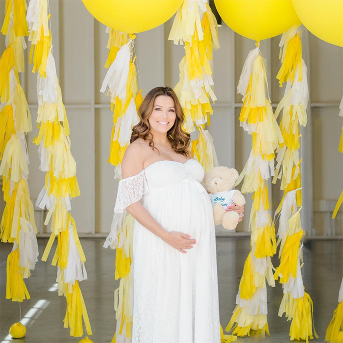 "<p>Eva Longoria is getting closer and closer to her due date! The actress, who's pregnant with her first child, enjoyed a colourful spring baby shower over the weekend. ""Baby Baston and I wish everyone a wonderful week,"" she wrote on Instagram.</p>