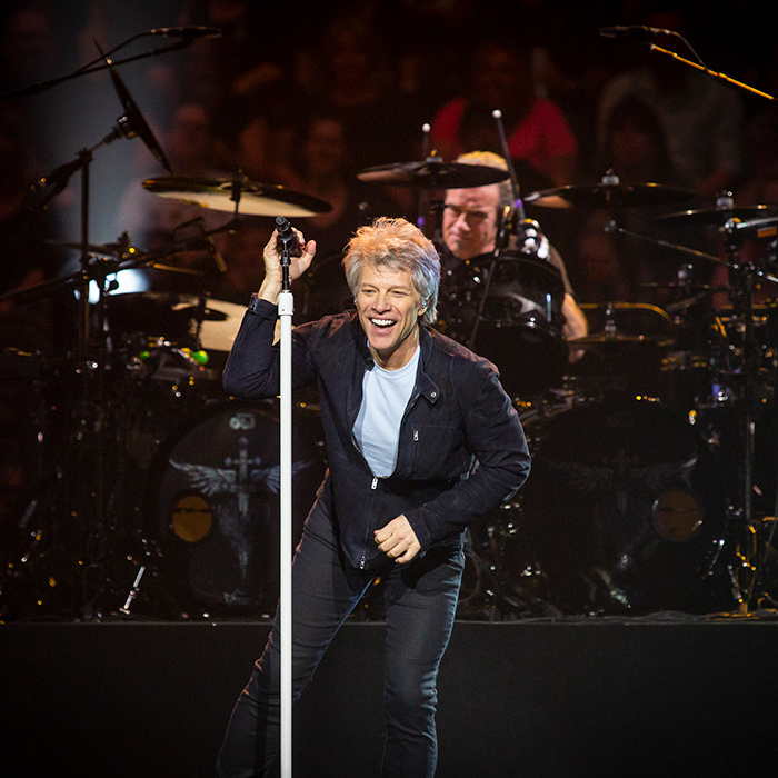 <p>Livin' on a prayer! Jon Bon Jovi brought down the house in Ottawa on May 7.</p>