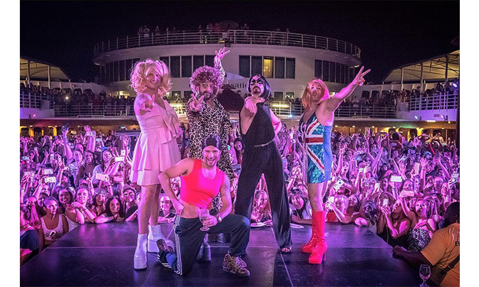 "The Backstreet Boys gave the gaggle of fans who attended their 2018 cruise a surprise to remember when they donned Spice Girls costumes on May 8. Fittingly named the ""Spice Boys,"" they took on the personas of Baby Spice, Ginger Spice, Sporty Spice, Posh Spice and Scary Spice. The boy band shared the photo to their Instagram with the caption: ""Celebrating all of the girl power that's kept us going for 25 years. #SpiceBoys #BSBCruise2018 : @shaggs""