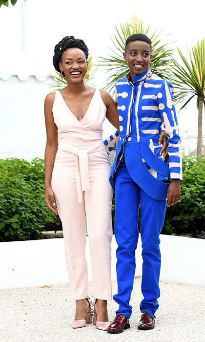 <p>Sheila and Samantha stunned in colourful outfits for their <em>Rafiki</em> photocall.</p>