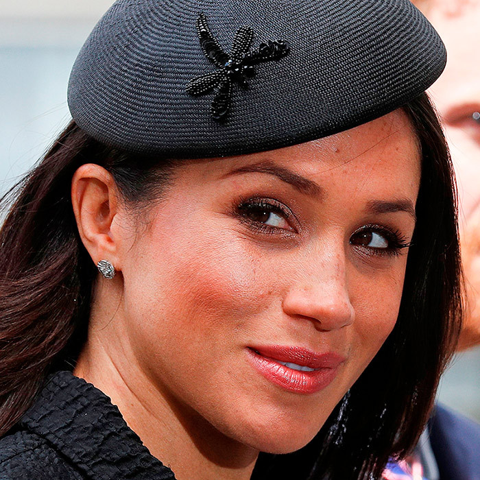 Meghan's eyebrows are the work of Shirelle Riley, who gives her a shape modelled after Audrey Hepburn.