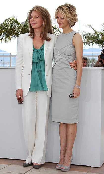 Queen Noor of Jordan teamed up with Meg Ryan at the the <em>Countdown to Zero</em> photo call during the 63rd Cannes Film Festival in 2010.