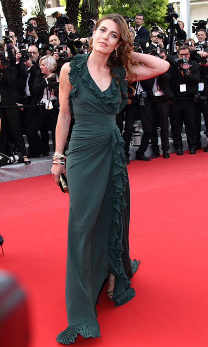 Charlotte Casiraghi had clearly inherited grandmother Grace Kelly's red carpet charisma, striking a pose at the <em>Madagascar 3: Europe's Most Wanted</em> premiere during the 65th Annual Cannes Film Festival at Palais des Festivals in 2012.