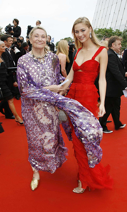 Future Monaco royal Beatrice Borromeo accompanied her beautiful grandmother Marta Marzotto to the screening of <em>Babel</em> at the Palais des Festivals in 2006.