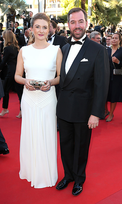 Princess Stephanie of Luxembourg and husband Prince Guillaume made their Cannes red carpet debut at the 70th annual film fest, attending the <em>Ismael's Ghosts (Les Fantomes d'Ismael)</em> screening in 2017.