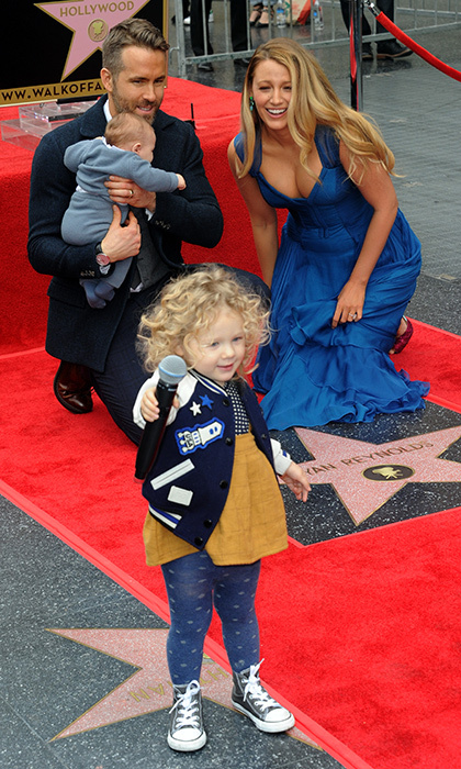 <h2>When Blake Lively's daughter stole the show at dad Ryan Reynolds' Walk of Fame ceremony</h2>