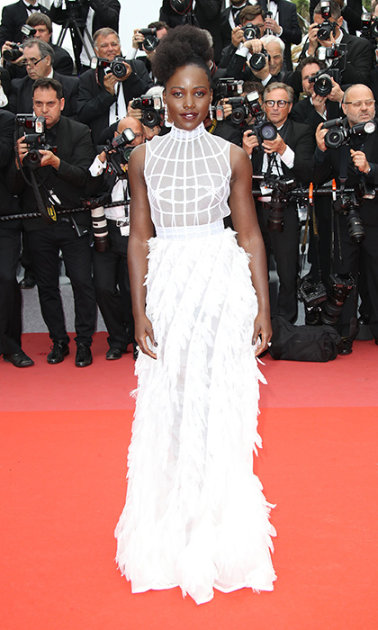 <p>Lupita Nyong'o stole the show in this stunning mesh feathery perfection by Dior. The star was attending the premiere for <em>Sorry Angel</em>.</p>