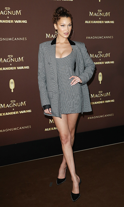 <p>We love this boyfriend blazer look that Bella Hadid wore to a Magnum x Alexander Wang event. The supermodel, of course, wore designs by the luxury label.</p>