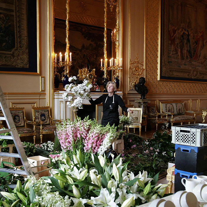 <p>The Grand Reception Room is the third room included in the celebrations; another part of Windsor Castle that was badly damaged by the fire. The Queen often hosts heads of state here for glitzy state dinners.</p>