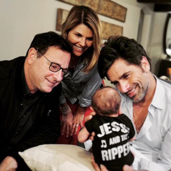 "<p>John Stamos and his son Billy had two very special visitors. Bob Saget and Lori Loughlin dropped in to meet the newest <em>Full House</em> member. The proud dad, who will forever be Uncle Jesse, shared the photo with the caption: ""The Tin Man, Dorothy and The Scarecrow say hi to the cutest of Munchkins. #BillyandtheRippers""</p>