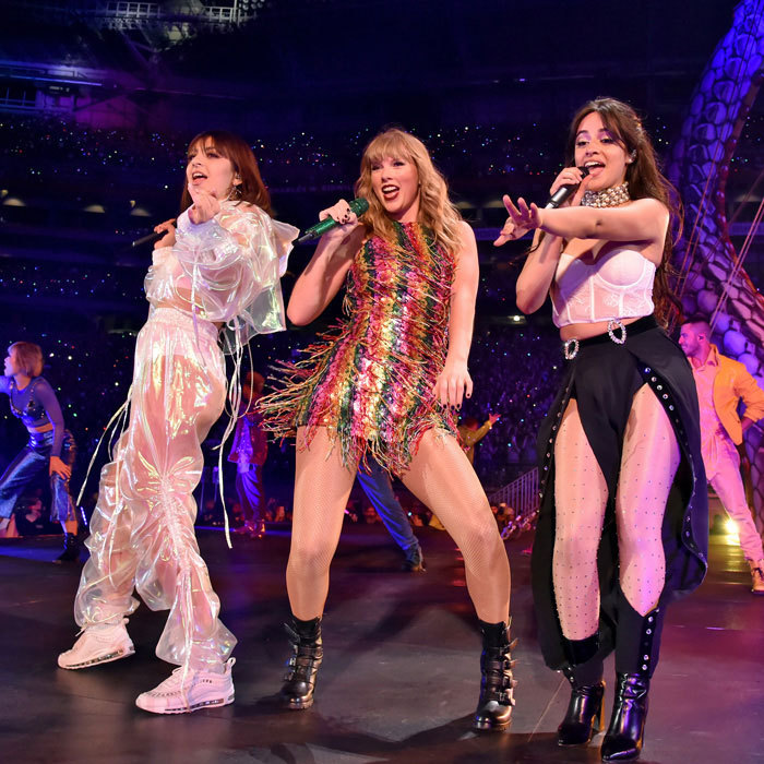 "<P>Taylor Swift kicked off her <em>Reputation</em> tour in Glendale, Arizona with Charlie XCX and Camila Cabello. The ""Shake It Off"" singer had her opening acts join her for the hit song as her boyfriend Joe Alwyn was front and center. Fans even caught her giving him a wink while on stage.</p>