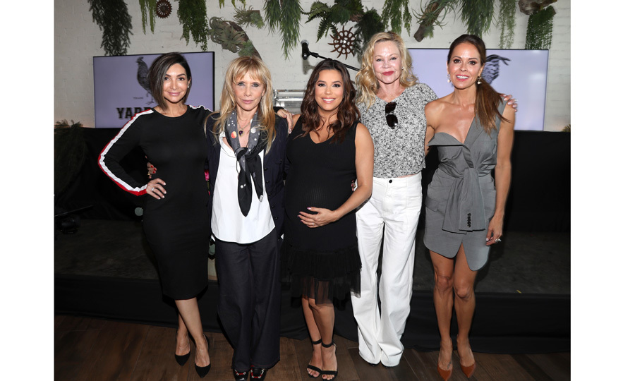 <p>Courtney Lopez, Patricia Arquette, Eva Longoria, Melanie Griffith and Brooke Burke attended the Global Gift Foundation USA Women's Empowerment Luncheon hosted by the mommy-to-be at Yardbird Southern Table & Bar on May 10 in L.A.</p>