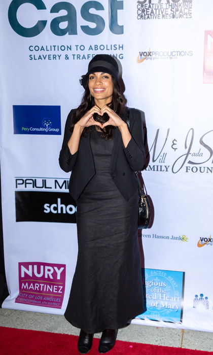 <p>Fresh off of her naked 39th birthday celebrations, Rosario Dawson was all smiles and (fully clothed) during the 20th annual From Slavery to Freedom gala hosted by CAST.</p>