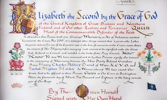 <h2>The Queen's formal consent</h2>
