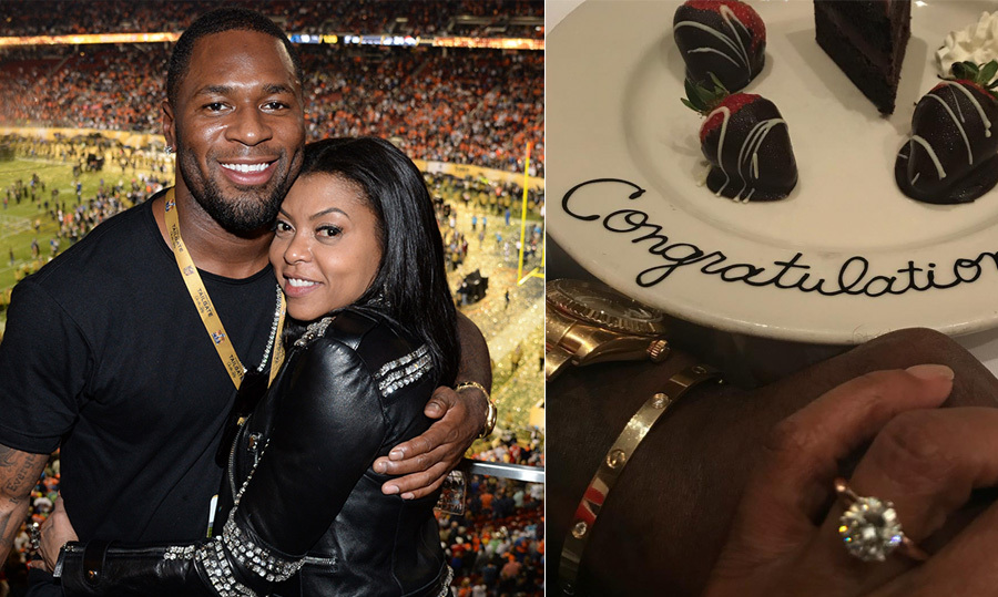 <h2>Taraji P Henson and Kelvin Hayden</h2>