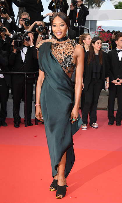 <p>Of course, fashion star Naomi Campbell hit the red carpet, too, in a beautiful black gown for the premiere of <em>Blackkklansman</em>.</p>