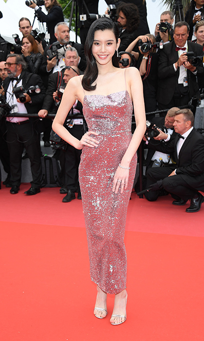 <p>Chinese model Ming Xi glittered in this beautiful number.</p>