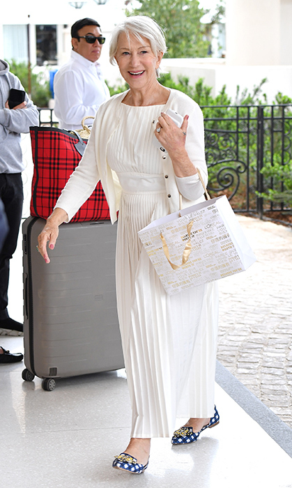 <p>The following day, Helen looked spring-ready in a white ensemble.</p>