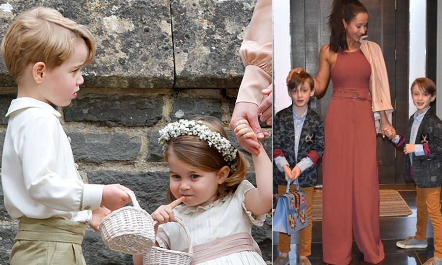 <h2>The pageboys and bridesmaids</h2>