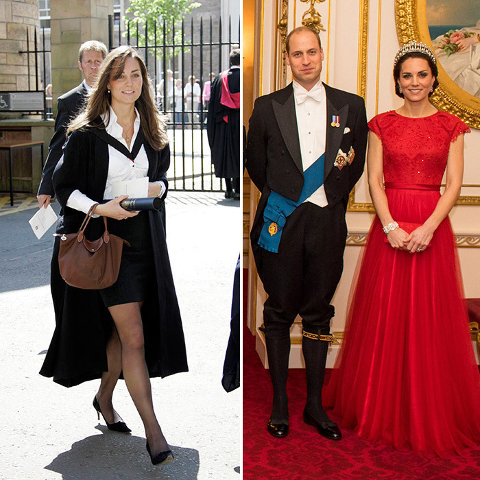 <p>With just days to go until Meghan Markle marries Prince Harry on May 19 at Windsor Castle, the former Suits actress has already swapped her an ultra-glam red carpet looks to a rather more demure and sophisticated wardrobe of wide-legged trousers, luxurious wrap coats, bespoke hats and tailored skirt suits. In honour of Meghan's royal style transformation, we're taking a look at other royal women who've left their previous lives – and wardrobes – behind for life in the palace.<p>
