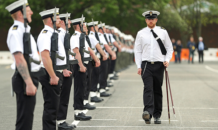<h2>The Navy got their marching orders</h2>