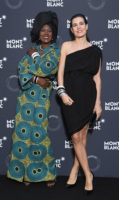 <p>Burundian singer Khadja Nin posed alongside Charlotte Casiraghi while she hosted a dinner in Cannes on May 16.</p>