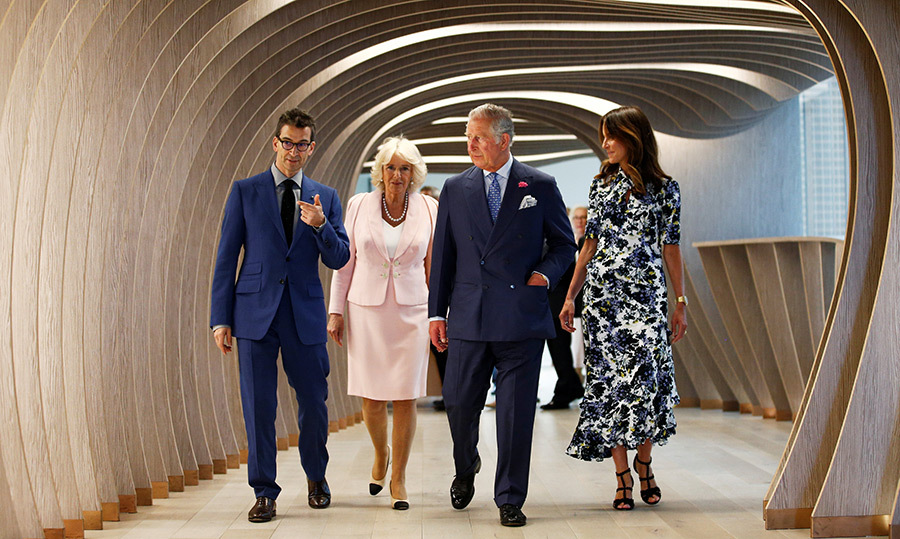 <p>The Duchess of Cornwall and Prince Charles enjoyed a tour of the Net-A-Porter headquarters in London on May 16.</p>