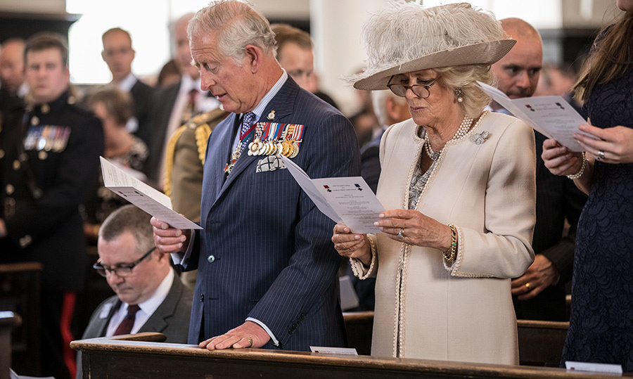 <p>Prince Charles and Camilla sang a hymn while attending the bi-annual service of the Victoria Cross and George Cross Association on May 15.</p>