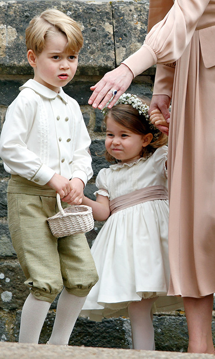 George and Charlotte, who will have special roles in Meghan and Harry's ceremony, were dressed in Pepa & Company for their aunt Pippa's wedding in 2017. 