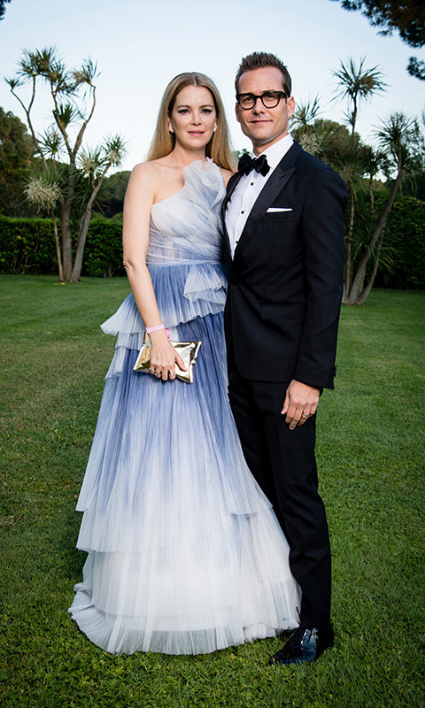 <p><em>Suits</em> boss Harvey Spector, a.k.a. actor Gabriel Macht, whisked his actress wife Jacinda Barrett away to Cannes to escape the royal wedding madness. After arriving in London on May 15, the couple turned up the glamour in France as they attended the splashy amfAR Gala at the Hotel du Cap-Eden-Roc.</p>