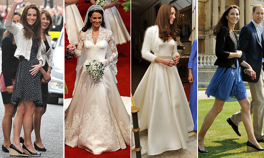 What Kate Middleton's wore during her own royal wedding ...