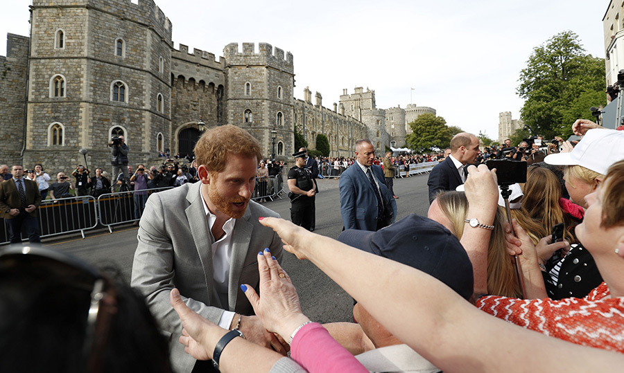 <p>Royal fans fought for the chance to shake hands with Prince Harry as he greeted everyone with a smile.</p>