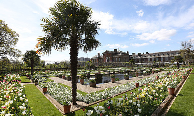 Last year a memorial white garden for Princess Diana was opened at Kensington Palace