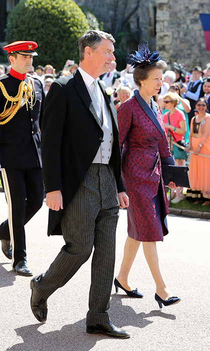 <p>Timothy Laurence and Princess Anne were the next to approach St. George's Chapel.</p>