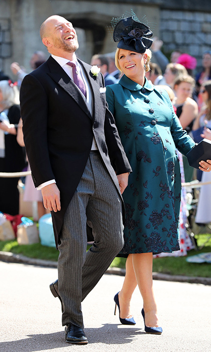 <p>Mike and Zara Tindall laughed up a storm while approaching the chapel.</p>