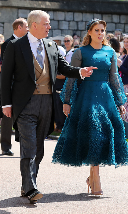 "<p>Prince Andrew and <a href=""https://ca.hellomagazine.com/tags/0/princess-beatrice""><strong>Princess Beatrice</strong></a> arrived together. Beatrice looked stunning in a deep teal dress.</p>