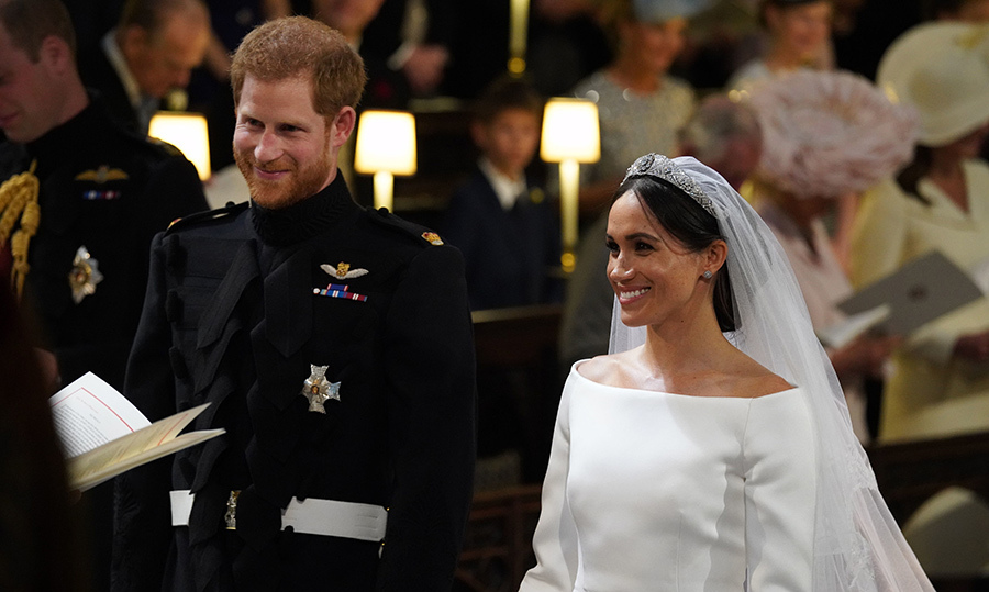 <p>The royal couple were happy as ever to finally be tying the knot.</p>