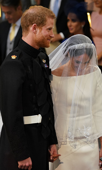 <p>Meghan couldn't contain her happiness to be marrying the love of her life.</p>