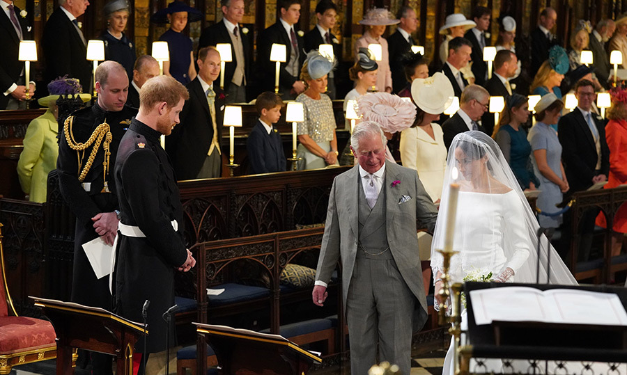 <p>Prince Charles walked Meghan down the aisle towards his son, Prince Harry.</p>