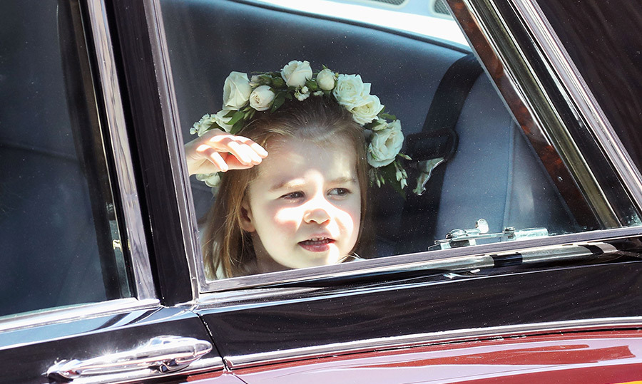 <p>Princess Charlotte peered out the window as she arrived at Windsor Castle.</p>