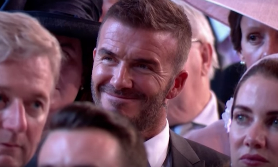 <p>During the sermon, the livestream panned to David Beckham who had a huge smile spread across his face.</p>