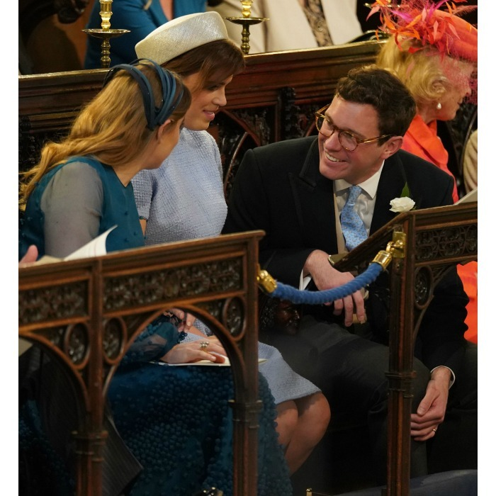 <p>Princess Beatrice also couldn't resist chatting in church, leaning over to talk with her cousin during the sermon.</p>
