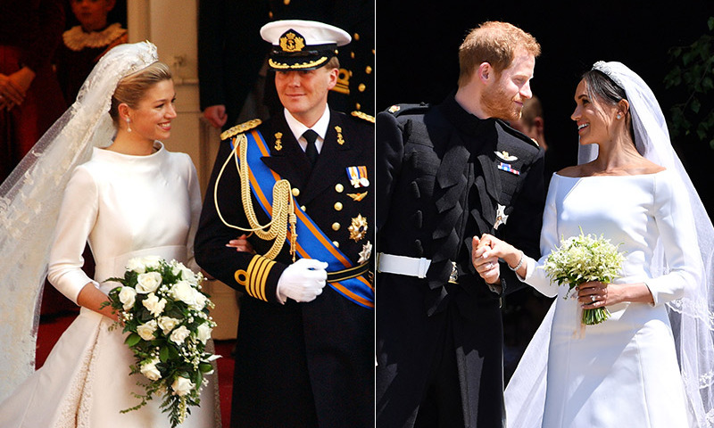37bd2543221 Meghan Markle s Givenchy dress reminded us of another royal wedding look