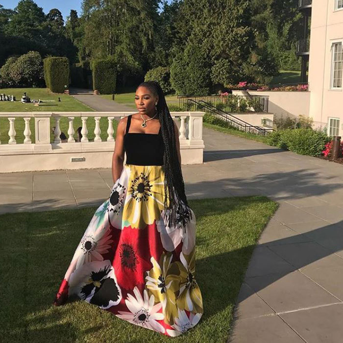 "<p>And, of course, <a href=""https://ca.hellomagazine.com/tags/0/serena-williams/""><strong>Serena Williams</strong></a>' reception look was blooming gorgeous! After stunning in Versace for the wedding ceremony, she enjoyed some R&R with her hubby, Alexis Ohanian, and their adorable baby girl, Alexis Olympia Jr. She swapped out her blush pink dress for a long Valentino gown similar to what Amber Heard wore in Cannes.</p>