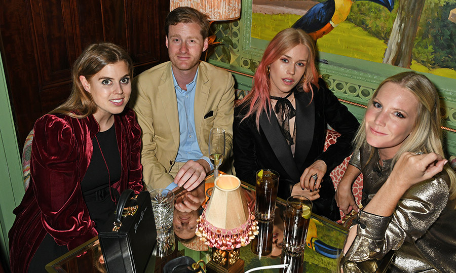 <p>The British royal posed alongside friends Tom Naylor-Leyland, Mary Charteris and Alice Naylor-Leyland at the Annabel's x Dior dinner on May 21.</p>