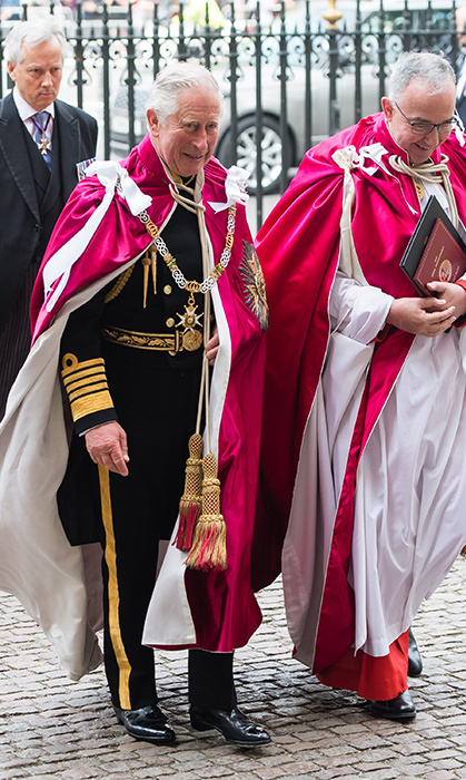 <p>Prince Charles looked dapper in uniform while arriving at Westminster Abbey for the Bath Service at Westminster Abbey on May 24. He was there to attend the service of Installation of Knights Grand Cross of the Order.</p>