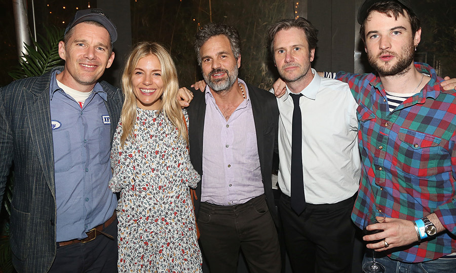 Ethan Hawke, Sienna Miller, Mark Ruffalo, Josh Hamilton and Tom Sturbridge all attended the opening night after party for The New Group Theater's new play <em>Peace For Mary Frances</em> on May 23.