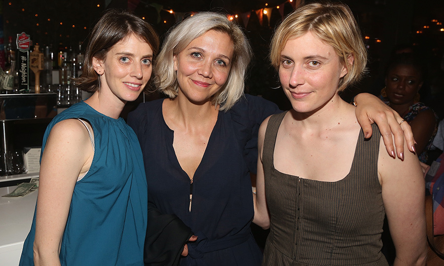 The ultimate trio were there, too! Amy Herzog, Maggie Gyllenhaal and Greta Gerwig stopped for a photo at the opening.