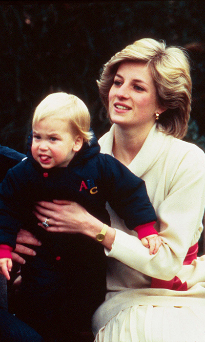 Prince William did it first! The charming two-year-old showed off a new skill in the gardens of Kensington Palace in 1983. 